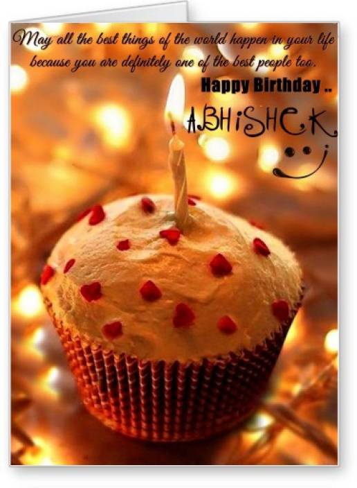 Lolprint Happy Birthday Abhishek Greeting Card Price In India Buy