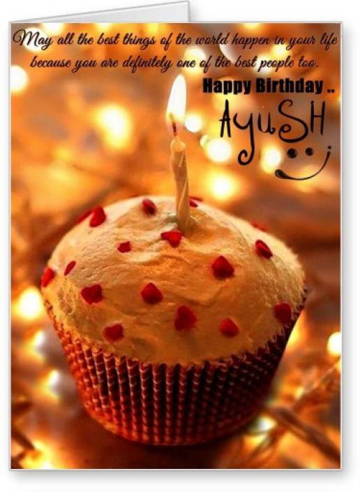 Lolprint Happy Birthday Ayush Greeting Card Price In India Buy