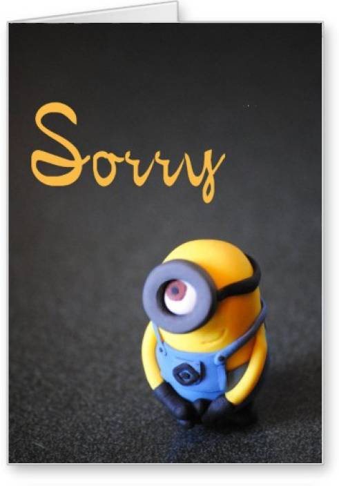 8a63df24907 Lolprint Minion Sorry Greeting Card Price in India - Buy Lolprint ...
