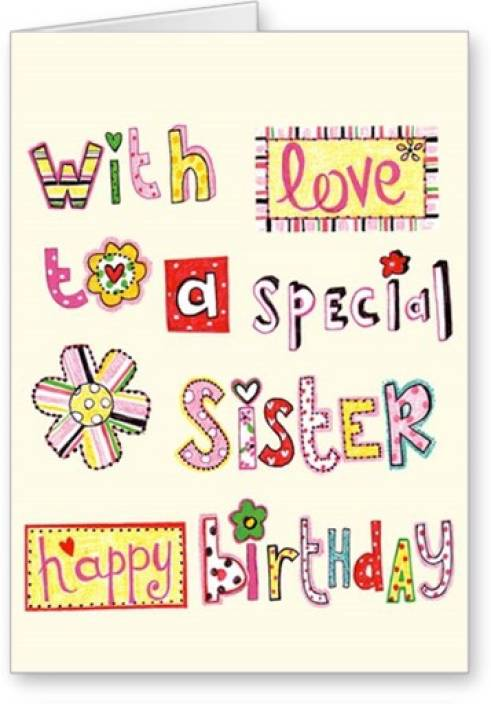 Lolprint Special Sister Happy Birthday Greeting Card Multicolor Pack Of 1