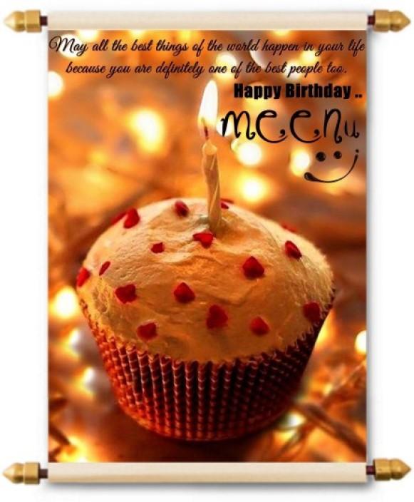 happy birthday meenu hd