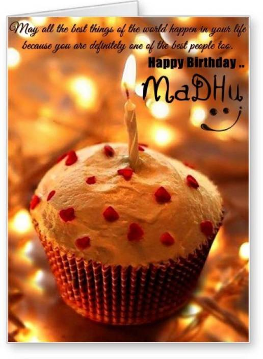 Lolprint Happy Birthday Madhu Greeting Card Multicolor Pack Of 1