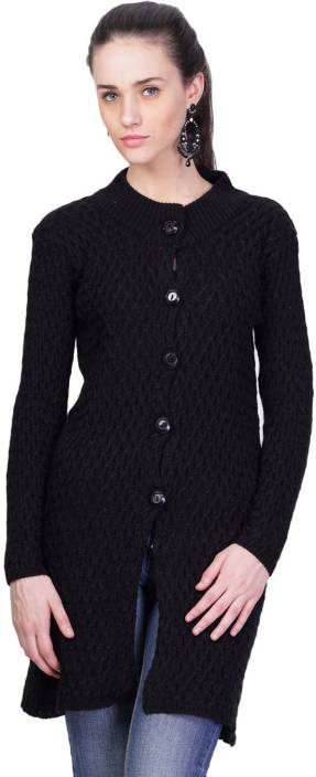 Montrex Women's Button Solid Cardigan