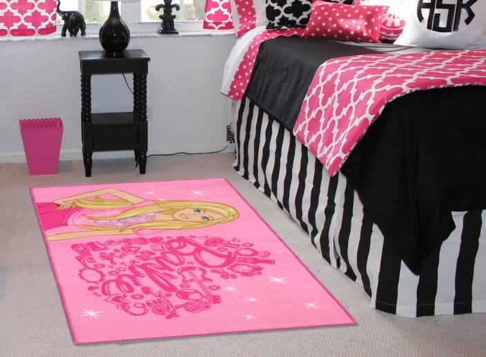 Status Pink PVC Area Rug