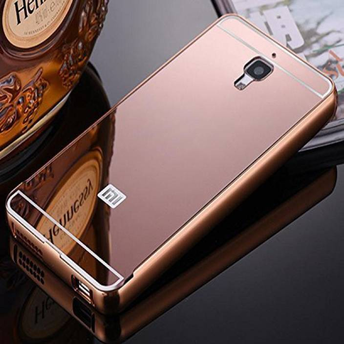 ASM ENERGY Back Cover for Luxury Mirror back case with side bumper for XIAOMI REDMI NOTE (ROSE GOLD, Metal)
