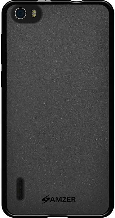 Amzer Back Cover for Honor 6 (Black, Rubber)