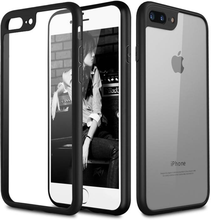 22a0549b1b Egotude Back Cover for Apple iPhone 7 Plus (Transparent Black, Rubber,  Plastic)