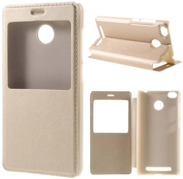 Spicesun Flip Cover for Mi Redmi 3S Prime