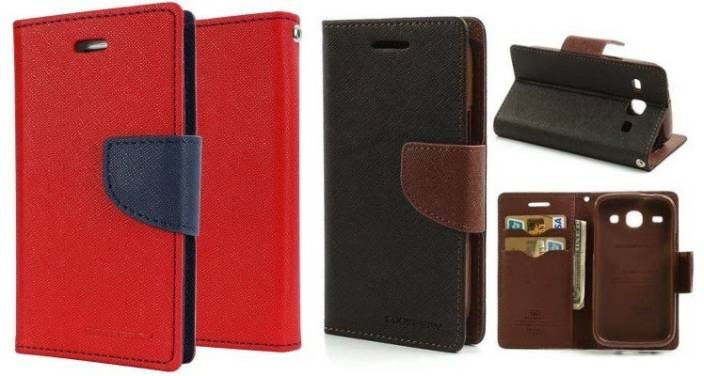 Securemob Wallet Case Cover for Micromax Canvas 2.2 A114