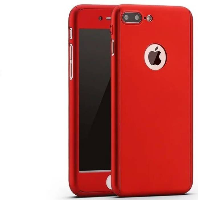 5546d8da43 Alac Front & Back Case for Apple iPhone 7 Plus (Red, Rubber, Plastic)