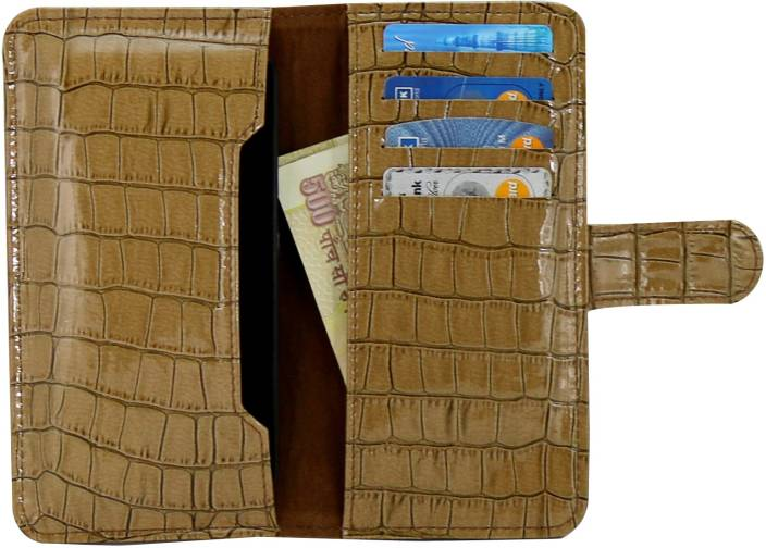 D.rD Wallet Case Cover for Karbonn A26