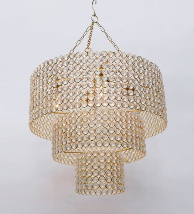 The Brighter Side Crystal spiral Chandelier Ceiling Lamp