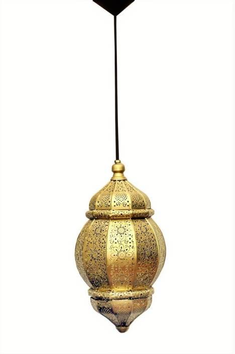 Logam Gold Moorish Moroccan Pendants Ceiling Lamp