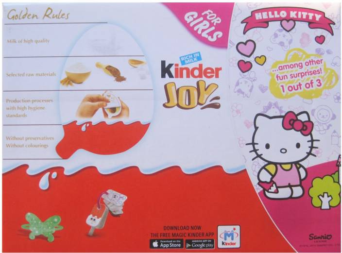 premium selection dd937 8f690 Kinder Joy For Girls 24 Pcs Chocolate Truffles