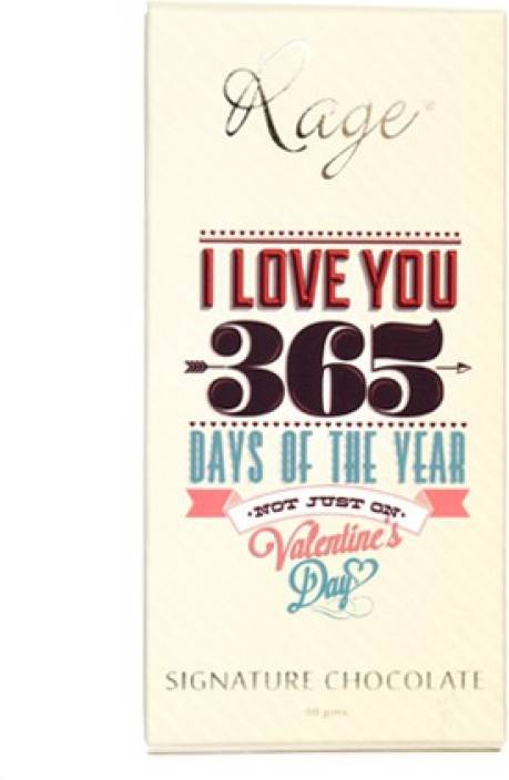 Rage Love you 365 days Signature Chocolate Chocolate Bars