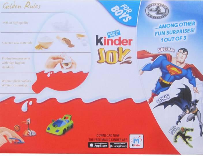 brand new a96ea ae238 Kinder Joy For Boys 16 Pcs Chocolate Truffles
