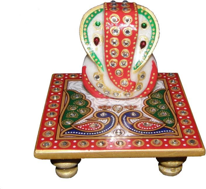 Bangalore Handicrafts Marble Ganesh Peacock Stoneware All
