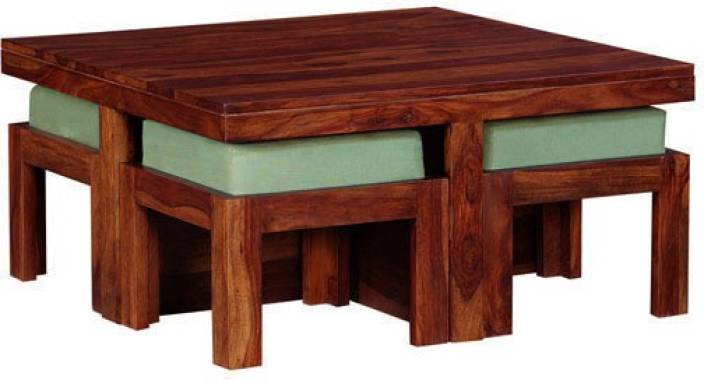 Smart Choice Furniture Rosewood Sheesham JICT03 Matte Finish Solid Wood Coffee Table