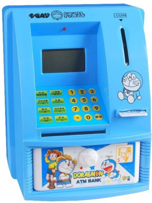 033c61c2a Allin1 Doraemon ATM Machine with Personal Card   LCD Display toy for Kids. Coin  Bank (Blue)