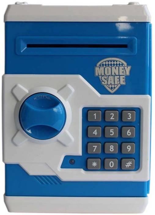 Tiny Mynee Electronic Piggy Bank Coin Safe Money Locker Blue