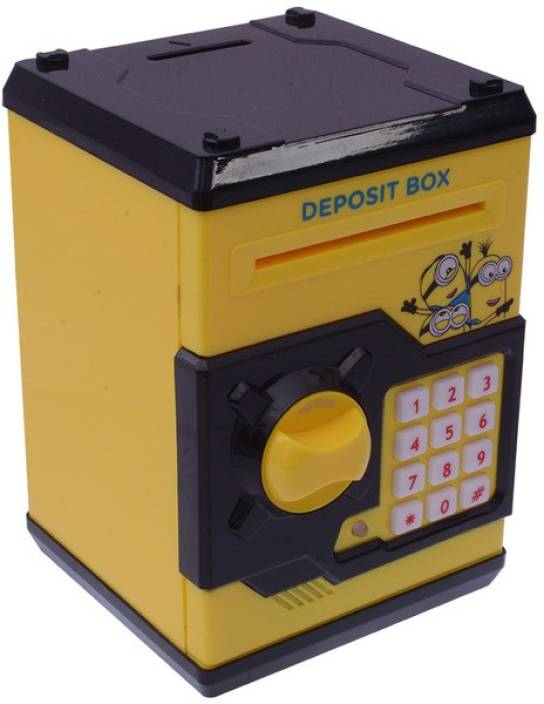 Rr Enterprizes Electronic Atm Machine Piggy Bank For Kids In Cartoon Character Coin