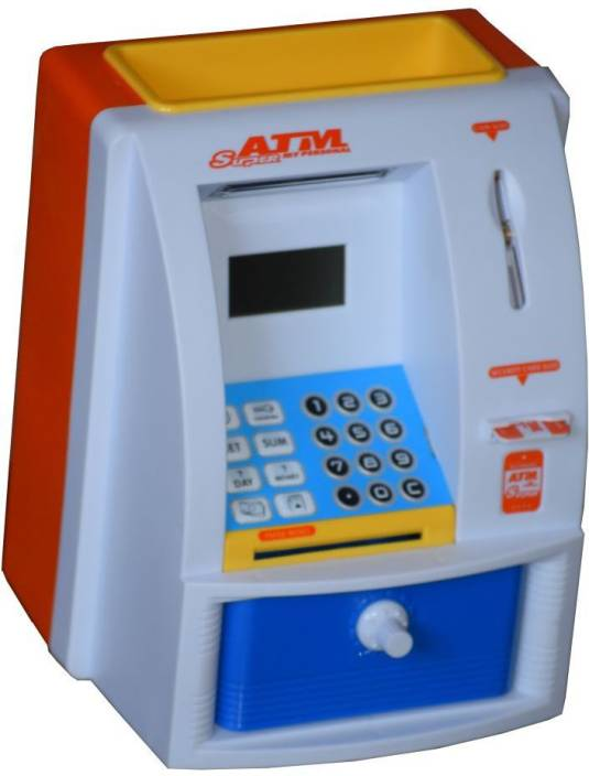 Tara Lifestyle Atm Machine Piggy Bank For Kids Open With Secret Code Display Coin