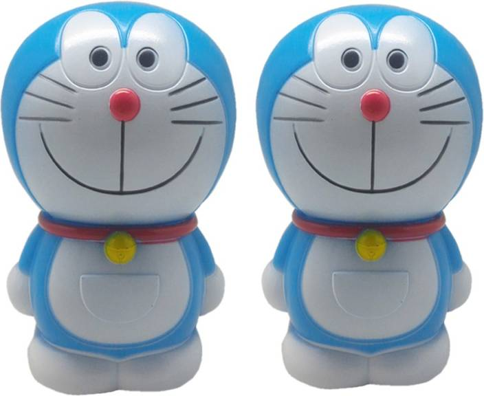 tuelip combo of two cartoon character doremon piggy bank coin bank