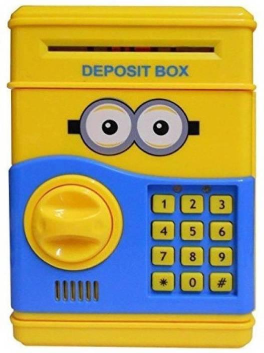 Bubble Hut Electronic Piggy Bank Money Locker Atm Coin