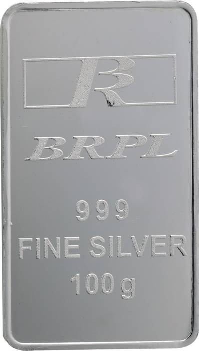 Bangalore Refinery Brpl 100 Gram Silver Bar S 999 100 G Silver Bar