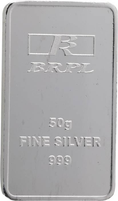 Bangalore Refinery Brpl 50 Gram Silver Bar S 999 50 g Silver Bar