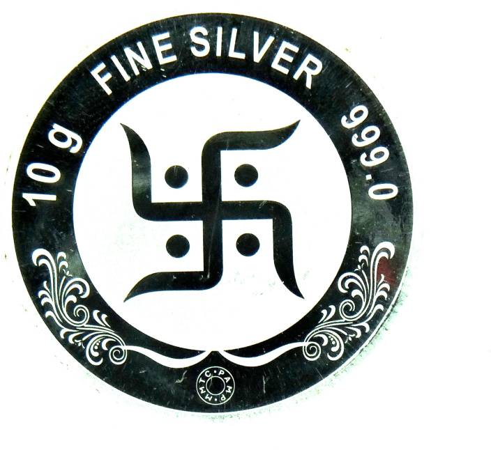Mmtc Pamp S 999 10 G Silver Coin Price In India Buy Mmtc