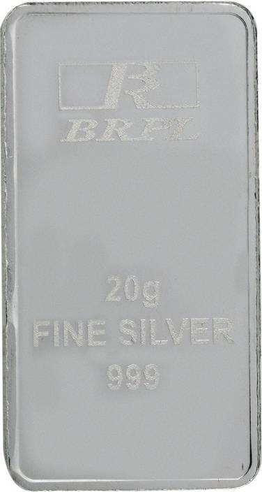 Bangalore Refinery Brpl 20 Gram Silver Bar S 999 20 G Silver Bar