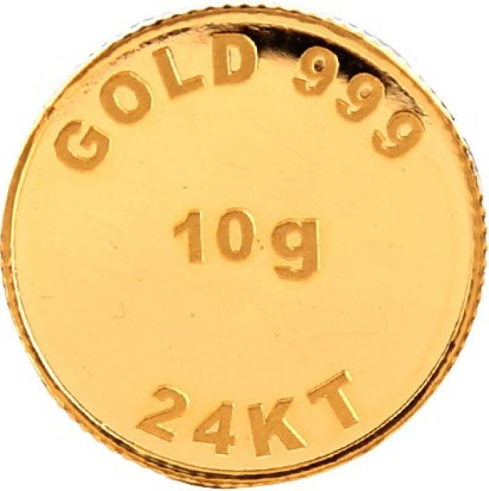 Bangalore Refinery Brpl 10 Gram 24kt Purity Coin 24 (999) K 10 g Gold Coin