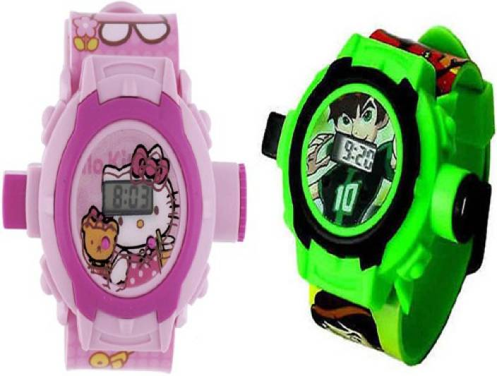 f8737a61b Aquaras HELLO KITTY AND BEN 10 24 IMAGE PROJECTOR WATCH (Multicolor)