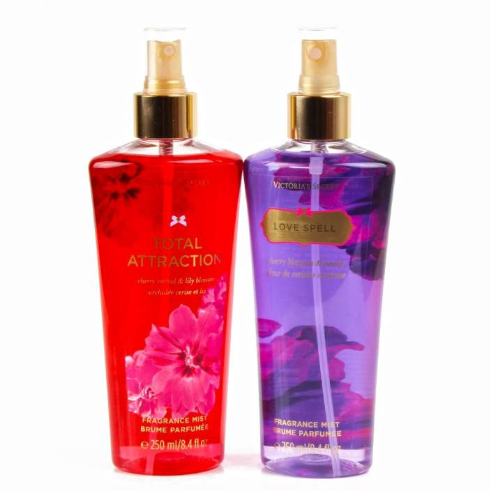 7c830bce009 Giftacrossindia Victoria Secret Total Attraction and Love Spell Fragrance  Mist for Her (Set of 2)