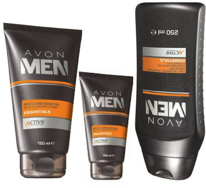Avon Men 4 In 1 Active Shave Gel 150 G After Shave Balm 100 G