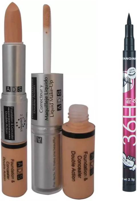 ADS Foundation And Concealer with Sketch Pen Eyeliner Price in ...
