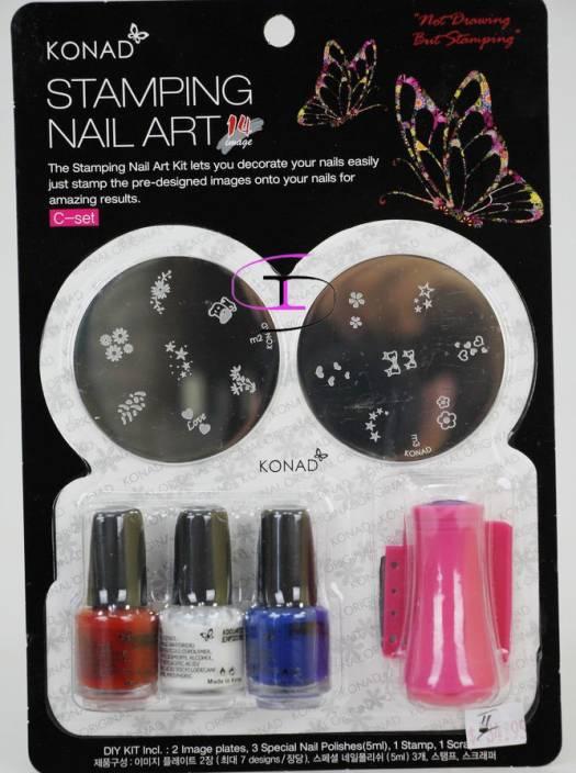 Konad Stamping Nail Art Kit Set C Price In India Buy Konad Stamping Nail Art Kit Set C