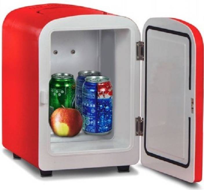 0d4d63f72 Vox Mini refrigerator Thermoelectric portable Cooler and Warmer 4 L Car  Refrigerator (Red)