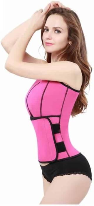 dc6da29427 Comfort Layer ™ Neo Sweat Hot Slimming Body Shapers Neoprene Sauna Gym Sport  Aerobic Women Compression (Pink Sleeveless)