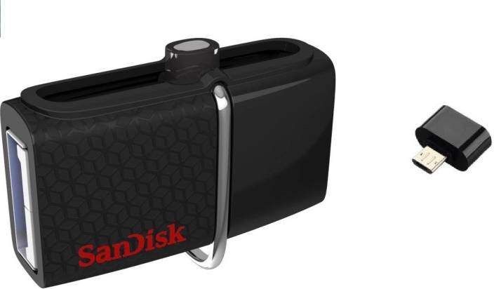 SanDisk Ultra Dual On-The-Go 32GB Pendrive with OTG Adapter Combo Set