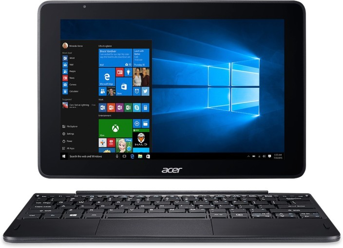 Acer One 10 Atom Quad Core - (2 GB/32 GB SSD/Windows Home) S1003 2 in 1 Laptop (10.1 inch, Black, 1.27 kg)