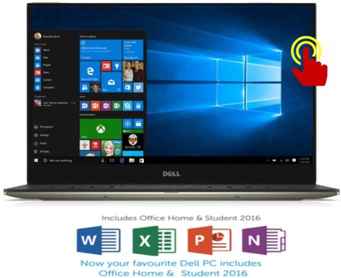Dell XPS 13 Core i7 6th Gen - (8 GB/256 GB SSD/Windows 10 Home) XPS 13 Thin and Light Laptop