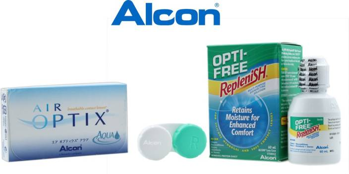 34002721049c3 Alcon Air Optix Aqua Silicone Hydrogel With Lens Care Kit By Visions India  Monthly Contact Lens (-9.00