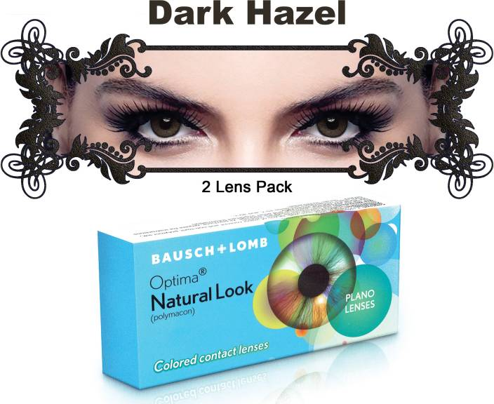 8f11cefad64 Bausch   Lomb New Natural Look Dark Hazel Color By Visions India 3 Monthly Contact  Lens (-0.00