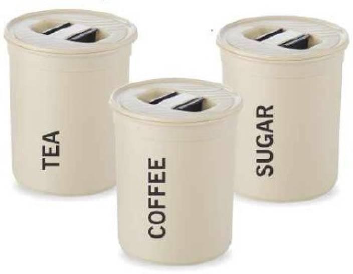 Asian 850 Ml Plastic Tea Coffee Sugar Container