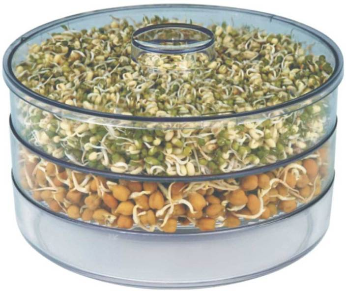 Patidar Polymers Healthy Sprout Maker ( Medium )  - 1800 ml Plastic Grocery Container
