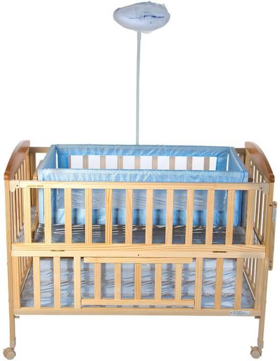MeeMee Baby Wooden Swing & Mosquito Net Cot