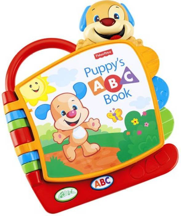 Crib Toys Learning : Fisher price laugh and learn puppy s abc book