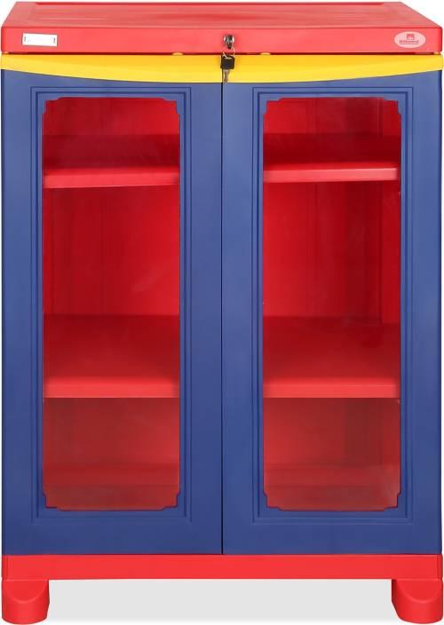 d194ebcce6a Nilkamal FS2PBL BRD YEL Plastic Almirah (Finish Color - Pepsi Blue)